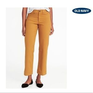Old Navy Mid-Rise Cropped Wide-Leg Chinos